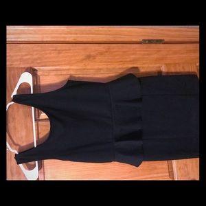 Black peplum dress size 6